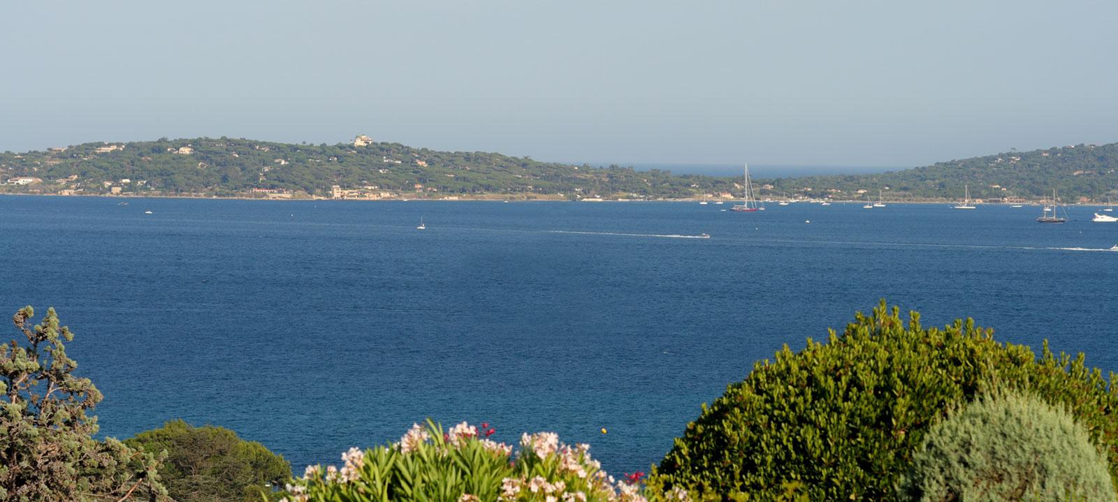 Vue de la mer sur Mas au domaine