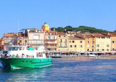 Bateau vert du port de St Maxime